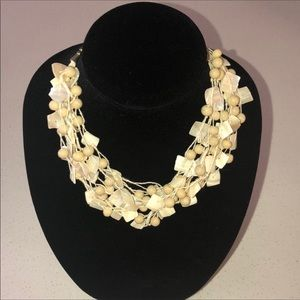 NWT Miriam Haskell beads & shells necklace